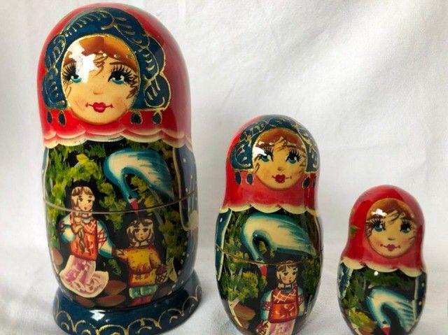 Boneca Russa Matrioska 5 Peças - Foto 5