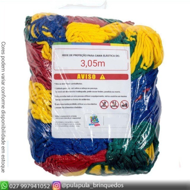 Redinha colorida de Cama elástica ( Tela) - A pronta entrega - Foto 3