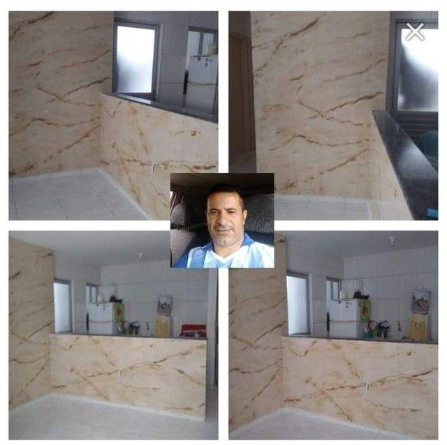 Textura marmorizado com massa acrílica  - Foto 4