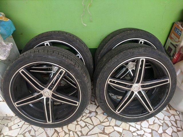 Roda + pneu aro 20 CRUIZER e TRACKER 5x105 - Foto 2