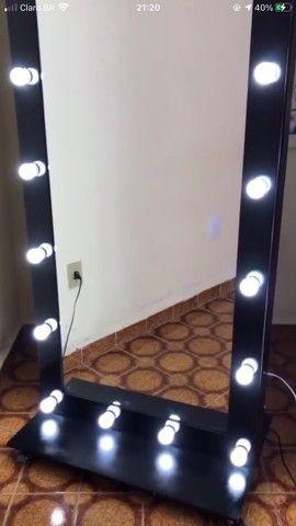 Espelho Camarim Grande Preto 1,80x0,80
