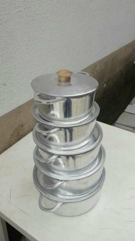 Panelas de aluminio batido