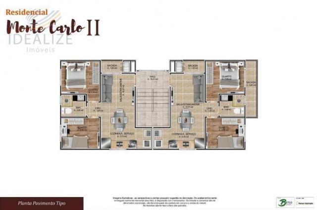 Apartamento à venda com 2 dormitórios em Cruzeiro, São josé dos pinhais cod:1927620 - Foto 10