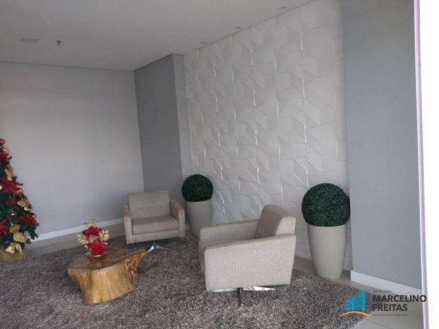 Apartamento com 3 dormitórios para alugar, 110 m² por r$ 2.079,00/mês - salinas - fortalez - Foto 3