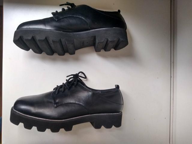 Sapato sola tratorada marca Bershka - Foto 4