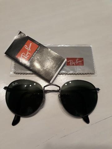 Óculos Ray Ban Round Original Seminovo - Foto 3