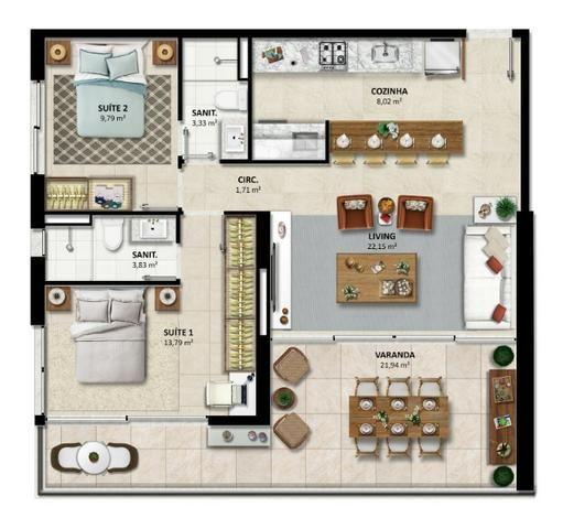 Lançamento - Duetto Barra - Apartamentos de 1 e 2 quartos Vista Mar na Barra - Foto 14