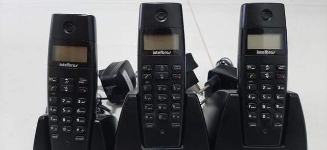 3 (três) Telefones Sem Fio Intelbras Te 40 ID - Foto 2
