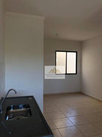 Apartamento com 2 dormitórios para alugar, 42 m² por R$ 700,00/mês - Bonfim Paulista - Rib - Foto 3