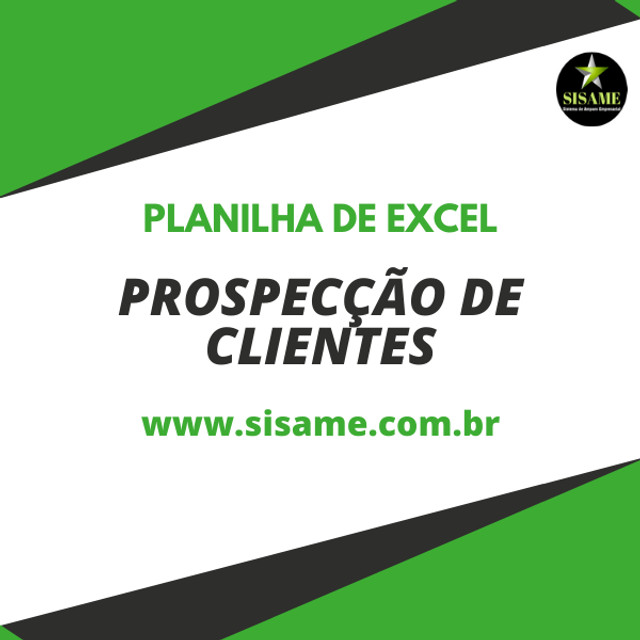 Planilha de Excel - Prospecção de Clientes