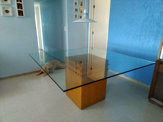 Mesa quadrada tampo de vidro 1,50 X 1,50  espessura do vidro 10 mm - Foto 2