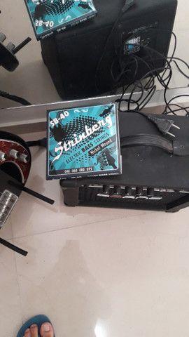Contra Baixo Strinberg Passivo 4C CAB-16 + amplificador impact bass CB60 - Foto 5