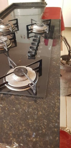 Vendo 3 peças: balcao cooktop,pia inox, pedra granito  - Foto 2