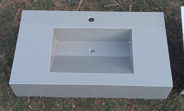 Pias para banheiro de porcelanato  - Foto 3