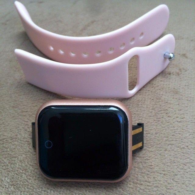 Relogio Smartwatch Y68 D20 Android Ios Rosa - Foto 5