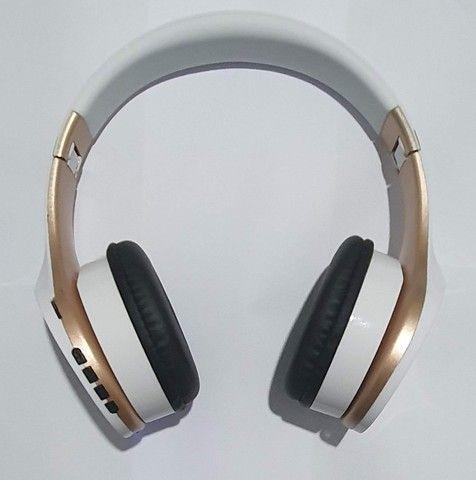 Fone De Ouvido Sem Fio Bluetooth Headphone Estéreo Inova - Foto 3