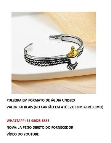 pulseira em formato de águia unissex  - Foto 2