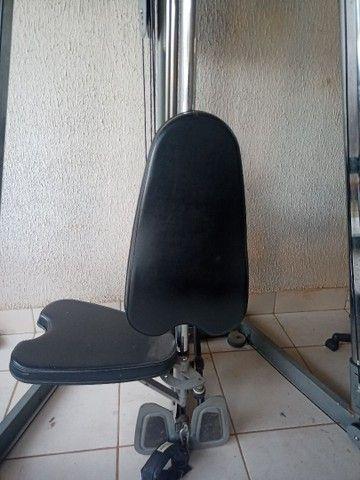 Ilha de musculação Vision Fitness completo + pesos e suporte - Foto 3