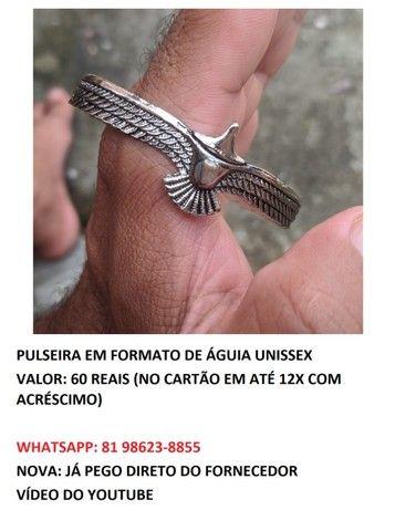 pulseira em formato de águia unissex  - Foto 6