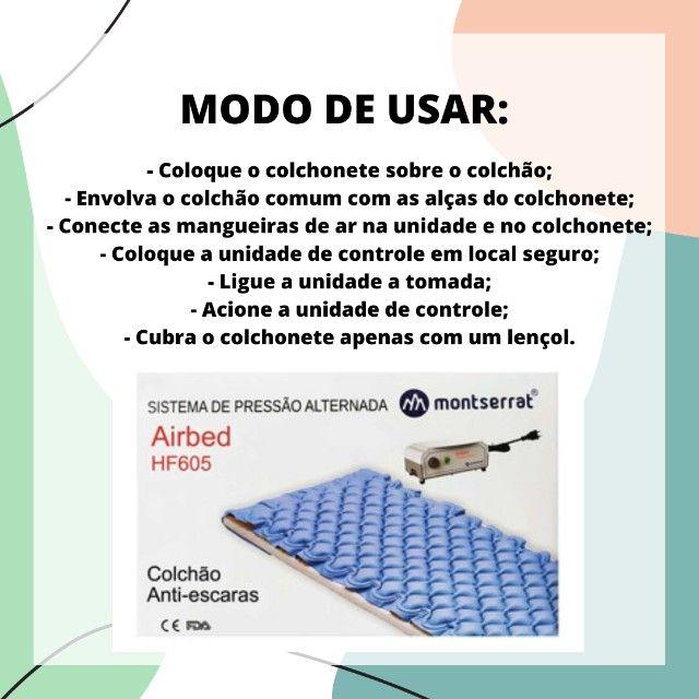 Colchão Anti-Escaras com Sistema de Pressão Alternada Montserrat HF605 - Foto 5