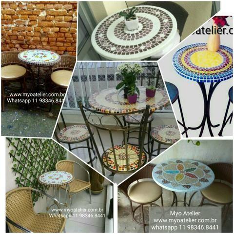 Mesa varanda, sacada, mosaico