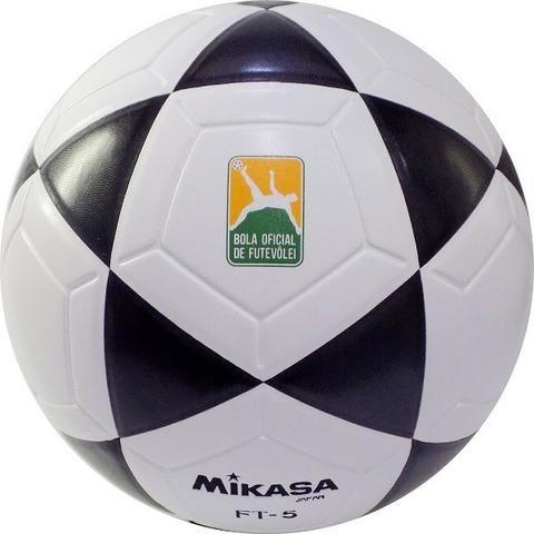 0ceebeae5 Bola Mikasa Futvolei Oficial FT5 branca - Esportes e ginástica ...