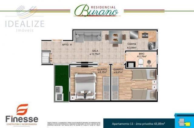 Apartamento à venda com 2 dormitórios em Afonso pena, São josé dos pinhais cod:1726522 - Foto 6