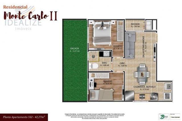 Apartamento à venda com 2 dormitórios em Cruzeiro, São josé dos pinhais cod:1927620 - Foto 11