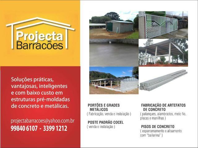 Barracão pré-moldados de concreto, galpões, granjas, estruturas metálicas