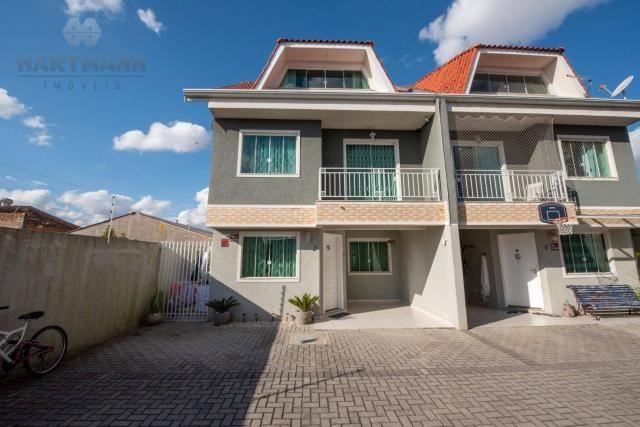 Sobrado condomínio fechado com 3 dormitórios à venda, 195 m² por r$ 695.000,00 - hauer - c