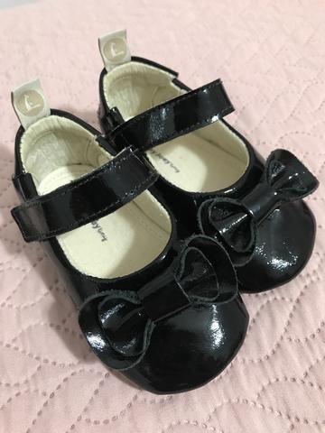 Sapato bebe preto verniz
