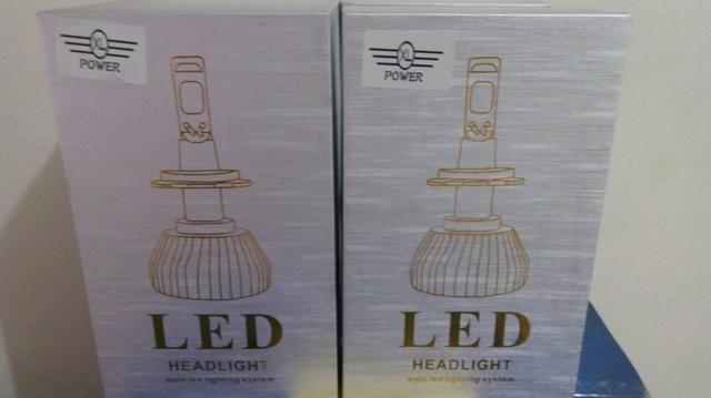 Super Led Gold Encaixe H7 7600 Lumens 6000K 12/24V Valor Unitário - Foto 2