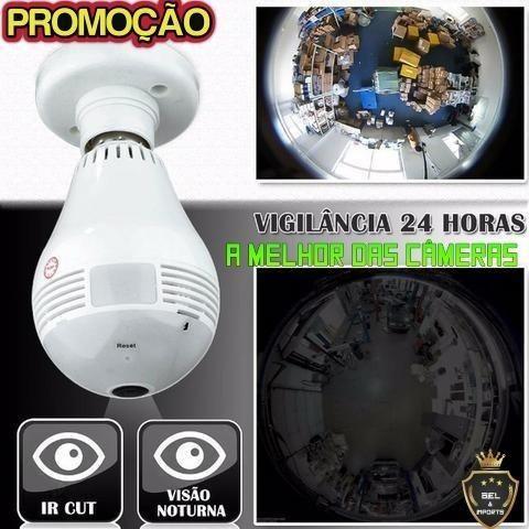Lâmpada Câmera Espiã Wifi (Filma 360º ) Veja Tudo Promoçao - Foto 2