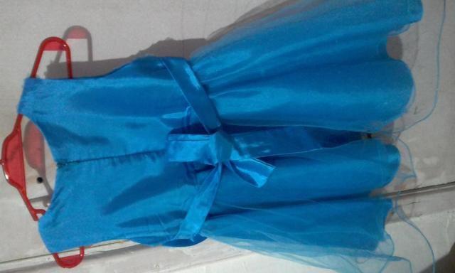 Vestido Infantil Usado Tamanho 3 - Foto 2
