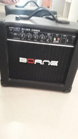 Contra Baixo Strinberg Passivo 4C CAB-16 + amplificador impact bass CB60 - Foto 3