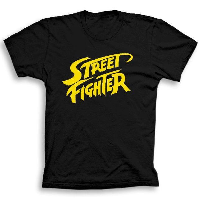 Camiseta Street Fighter jogos filmes seriados c30 Original