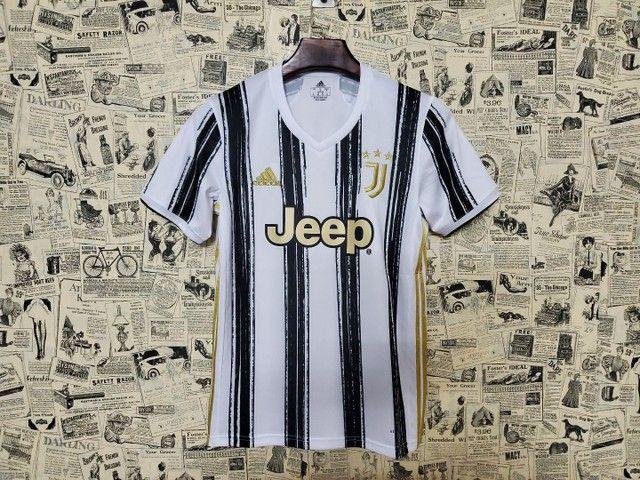 Camisa Juventus Uniforme I Temporada 2020 2021