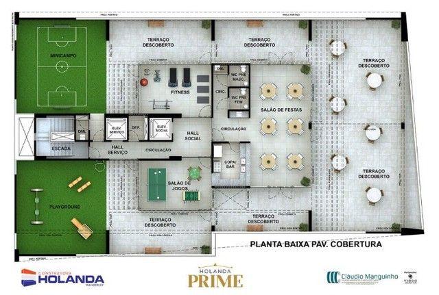 JS- Apartamento na Beira Mar de Casa Caida - 144m²   Varanda Gourmet Holanda Prime - Foto 7