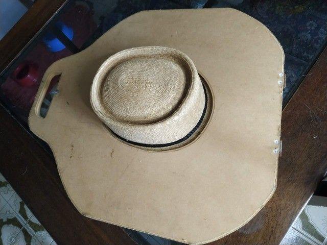 Chapéu chileno com estojo- Sombrero Chupalla - Foto 5