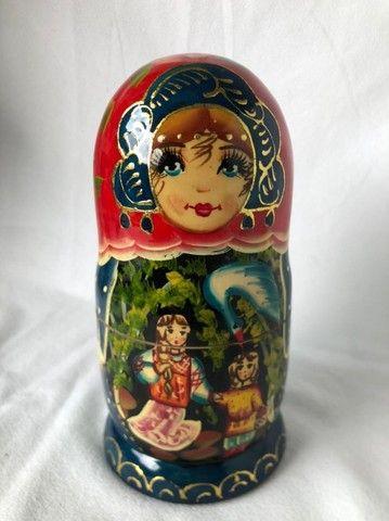 Boneca Russa Matrioska 5 Peças - Foto 4