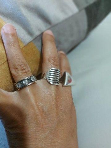 Aneis de prata pura - Foto 3