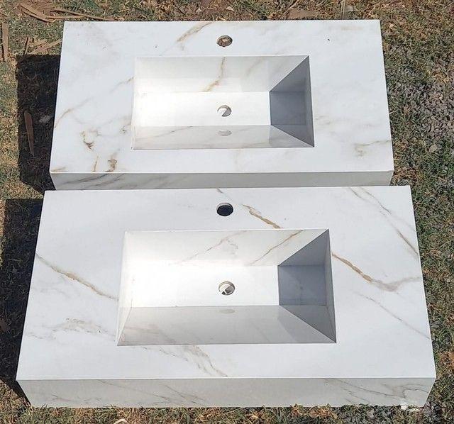 Pias para banheiro de porcelanato  - Foto 4