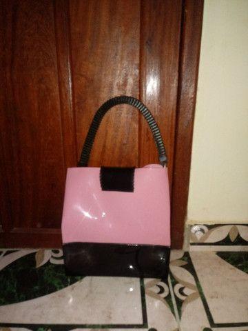 Bolsa Petit Jolie preto/rosa - Foto 2