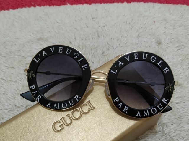 Óculos Tendência! Lindo Óculos de sol Gucci Feminino - Bijouterias ... 22d218b892