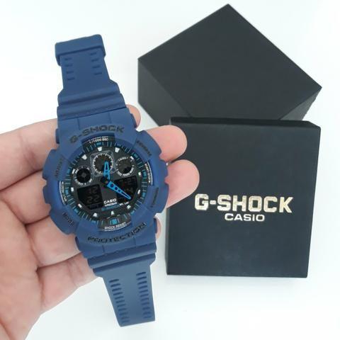 9439f2360b7 Relógio G Shock Casio Azul Lançamento Novo - Bijouterias