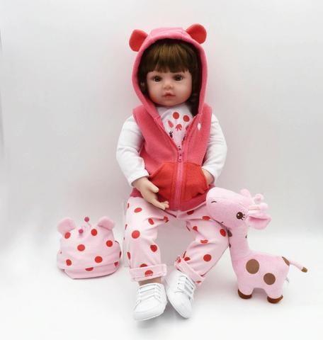 Boneca Bebê Reborn Dolls 47cm - Entrega Grátis - Foto 3