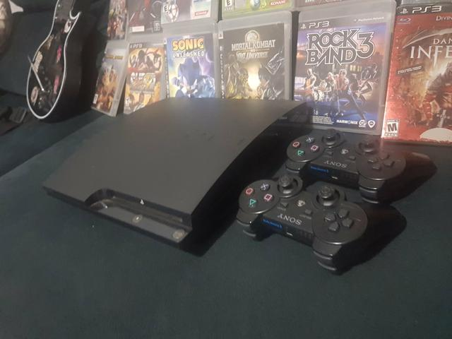 PS3 + Jogos + Guitarras Rock n' Roll - Foto 2