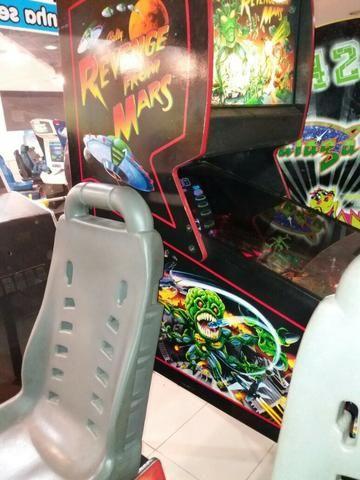 Máquina Pinball Fliperama Arcade Revenge From Mars Bally - Foto 3