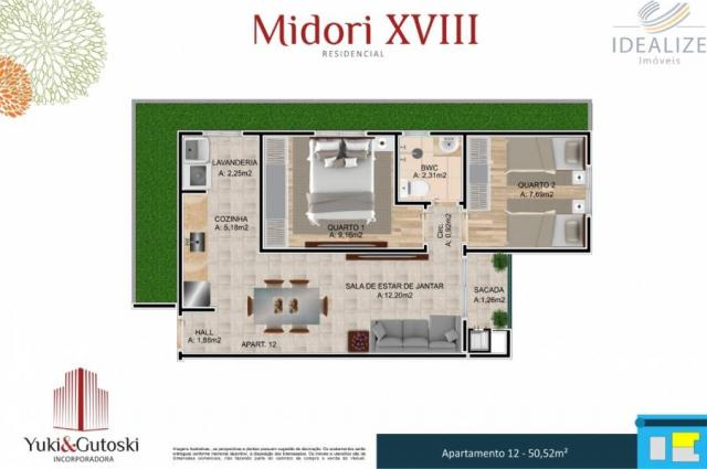 Apartamento à venda com 2 dormitórios em Afonso pena, São josé dos pinhais cod:2060496 - Foto 12