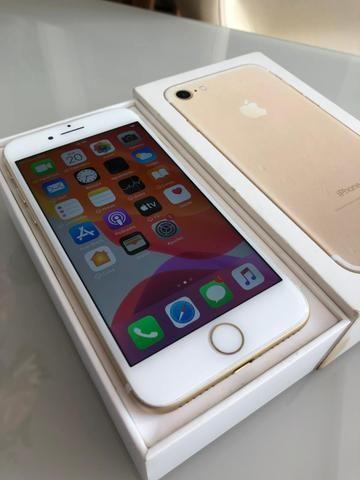 IPhone 7 128gb Dourado intacto semi-novo - Foto 3